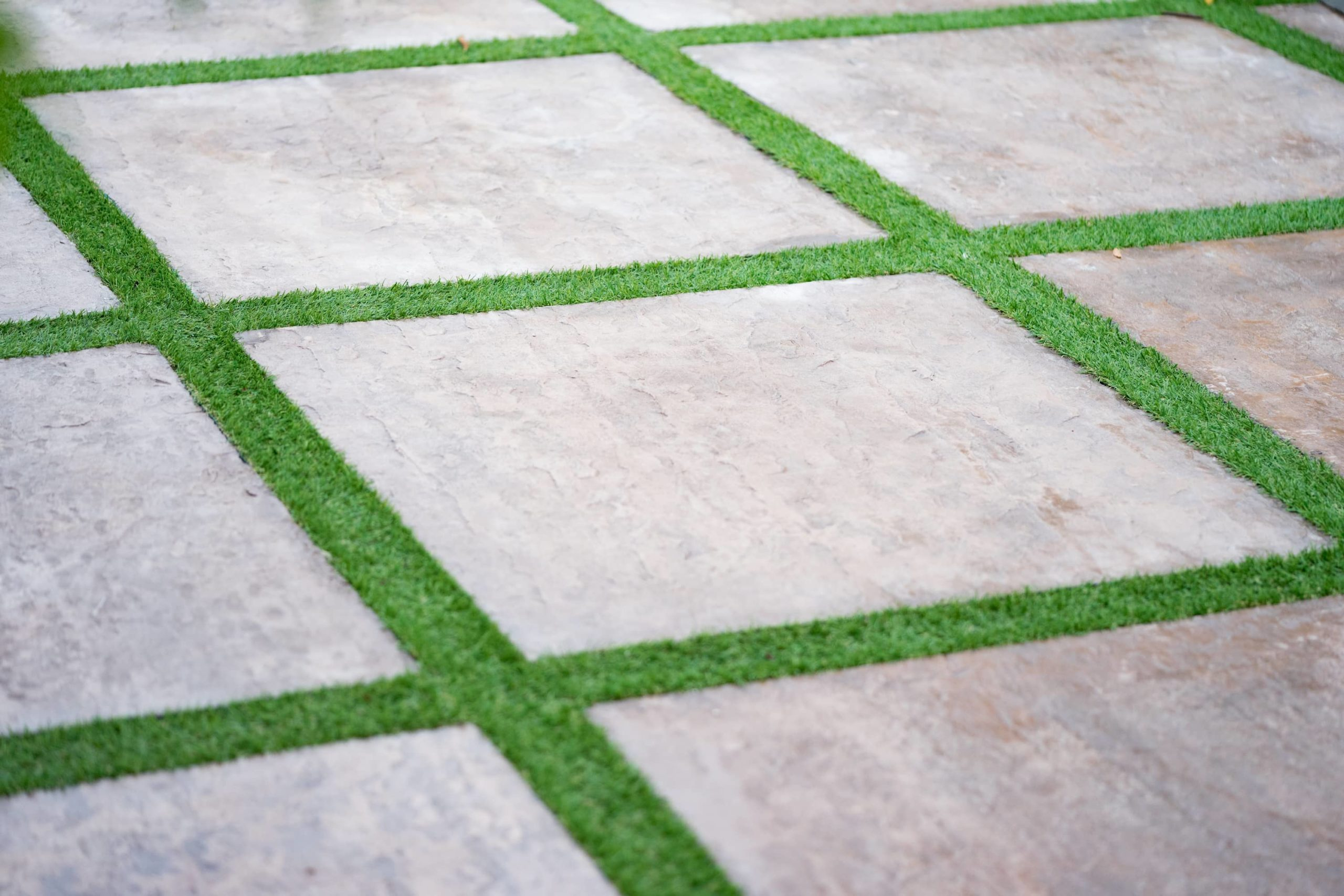 This is an image of textured concrete paving walkway.